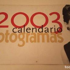 Cine: CALENDARIO FOTOGRAMAS AÑO 2003 AUDREY HEPBURN, JAMES DEAN, MARLON BRANDO. Lote 171146563