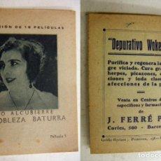 Cine: COLECCIÓN DE PELICULAS NOBLEZA BATURRA - PUBLICIDAD DEPURATIVO WOKEYER . Lote 171192515