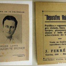 Cine: COLECCIÓN DE PELICULAS EL TAZON DE BRONCE - PUBLICIDAD DEPURATIVO WOKEYER . Lote 171193214