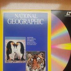 Cine: LASER DISC - NATIONAL GEOGRAPHIC - AVENTURA CON LA FAUNA ANTARTICA . Lote 171537223