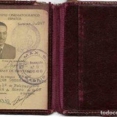 Cine: CARNET DE IDENTIDAD DEL MONTEPÍO CINEMATOGRÁFICO ESPAÑOL - CUÑO FILMAX S.A. - FECHADO EN 1957. Lote 175121202