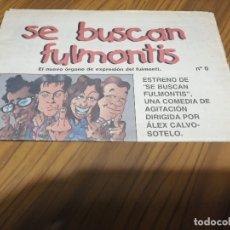 Cine: SE BUSCAN FULMONTIS 0. PROMOCIÓN DE LA PELÍCULA EN FORMA DE PERIÓDICO CON 12 PÁGINAS. RARÍSIMO. Lote 176024834