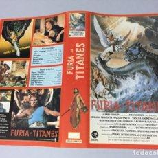 Cinema: CARATULA CACITEL VIDEO VHS BETA FURIA DE TITANES. Lote 176680302
