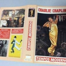 Cine: CARATULA CACITEL VIDEO VHS BETA CHARLES CHAPLIN TIEMPOS MODERNOS. Lote 176685568