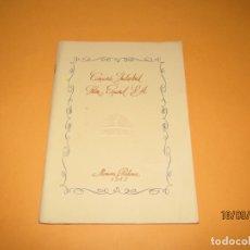 Cine: ANTIGUA MEMORIA BALANCE DE CIFESA COMPAÑIA INDUSTRIAL FILM ESPAÑOL S.A. DEL AÑO 1943. Lote 177876789