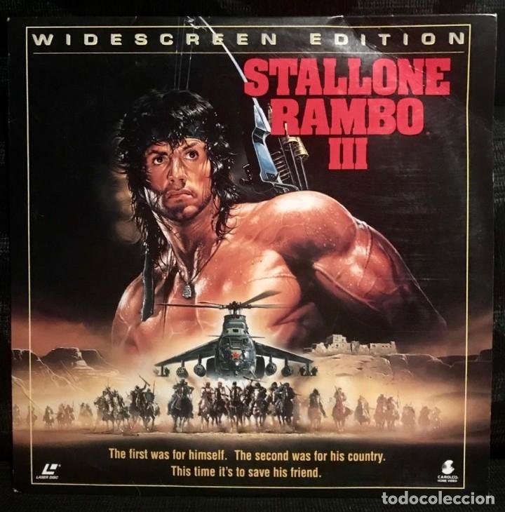 LASERDISC RAMBO 3 III - WIDESCREEN LD - SYLVESTER STALLONE (Cine - Varios)