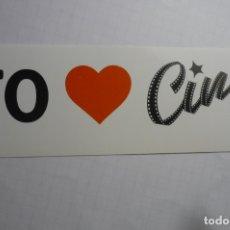 Cine: PEGATINA YO AMO CINE-- LAUREN FILMS CM. Lote 179067858