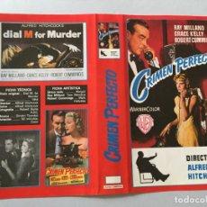 Cine: CARATULA CACITEL VIDEO VHS BETA ALFRED HITCHCOCK CRIMEN PERFECTO GRACE KELLY RAY MILLAND. Lote 180050783