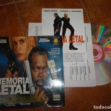 Cine: MEMORIA LETAL LASER DISC CON FOLLETO 1996 GEENA DAVIS SAMUEL L. JACKSON MUY RARO COLECCIONISTAS. Lote 180133697