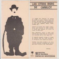 Cine: FOLLETO PUBLICIDAD EXPOSICIÓN LAS OTRAS RISAS DE CHARLOT, 10 MOSTRA VALENCIA CINEMA MEDITERRANI 1989. Lote 180483123