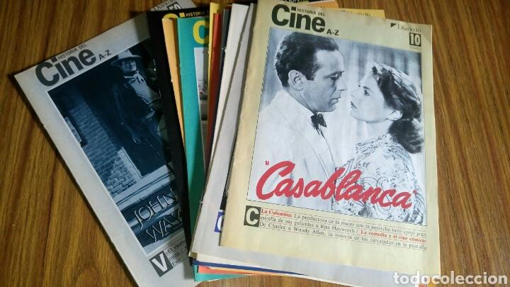HISTORIA DEL CINE A- Z, DIARIO 16, LOTE DE 21 FASCÍCULOS. (Cine - Varios)