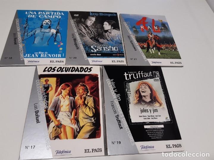 Cine: Colección Grandes Directores EL PAIS Libros Numeros del 1 al 21, (excepto numero 9) 19 DVD s 1 - Foto 2 - 182094002