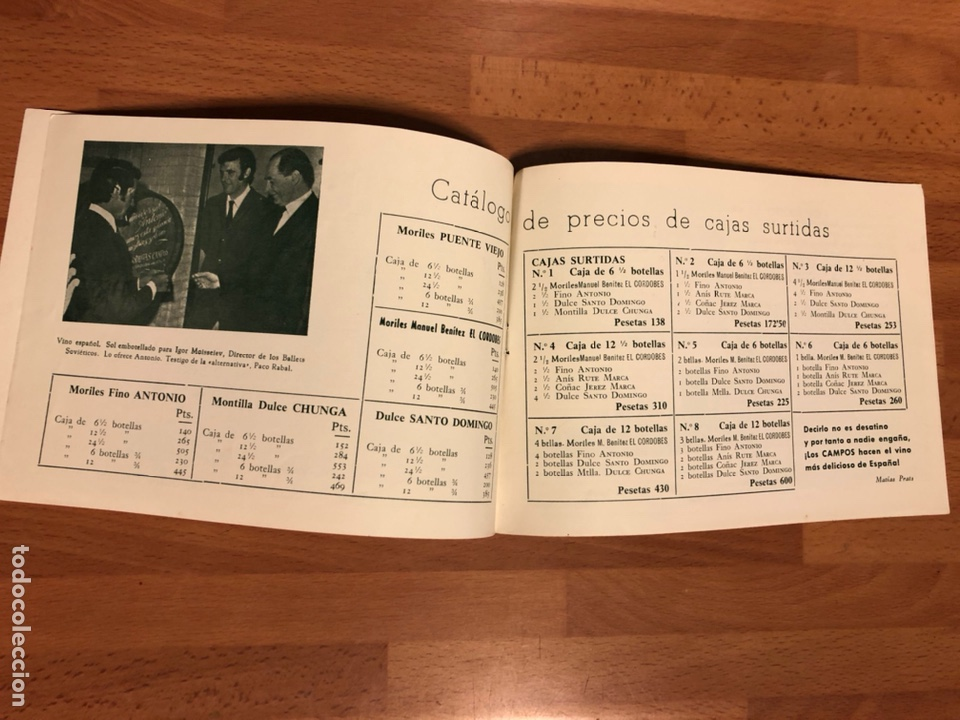 Cine: Catálogo vino moriles.rocio durcal Carmen sevilla Paquita rico chicote la chunga Antonio cordobes 3 - Foto 3 - 183545708