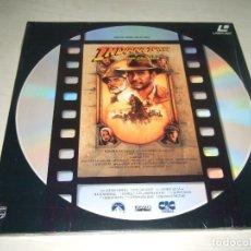 Cine: DISCO VINILO LASER DISC PELICULA INDIANA JONES Y LA ULTIMA CRUZADA. Lote 183630206
