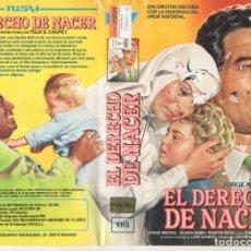 Cine: - SOLO CARATULA - EL DERECHO DE NACER. Lote 183671767