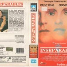Cinéma: - SOLO CARATULA - INSEPARABLES. Lote 183694953