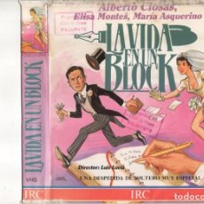 Cine: - SOLO CARATULA - LA VIDA EN UN BLOCK - CARATULA DE ESTUCHE DOBLE. Lote 183943910