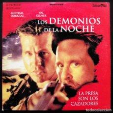Cinema: LOS DEMONIOS DE LA NOCHE. MICHAEL DOUGLAS. VAL KILMER. LASER DISC. VERSIÓN ESPAÑOLA. AÑO: 1996.. Lote 188550016
