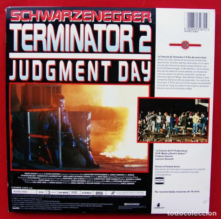 Cine: TERMINATOR 2. SCHWARZENEGGER. 2 DISCOS. LASER DISC. VERSIÓN ESPAÑOLA. AÑO: 1991. WILL SMITH - Foto 3 - 189336162