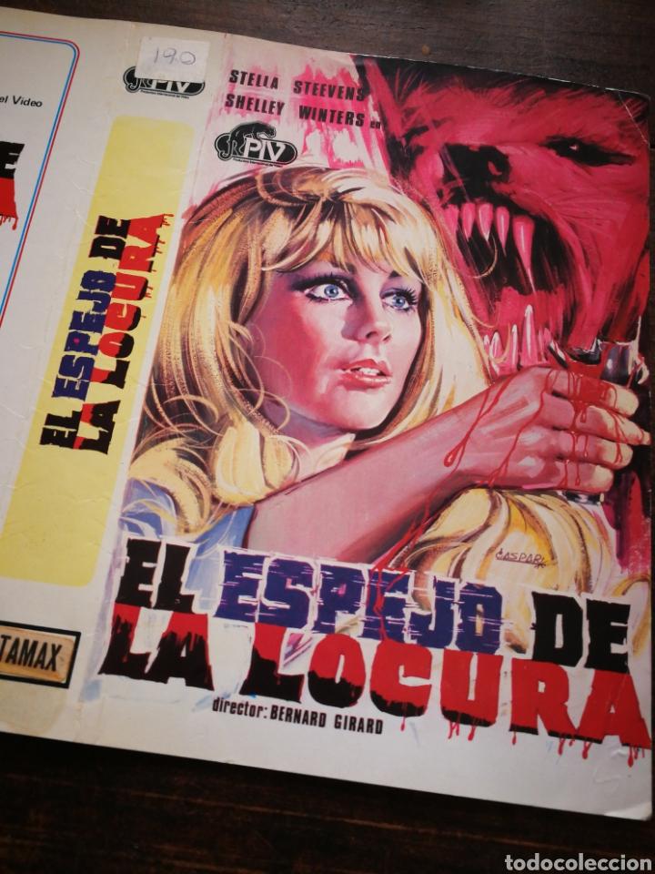 Cine: CARATULA ORIGINAL PELÍCULA EL ESPEJO DE LA LOCURA- BETAMAX. - Foto 2 - 194009918
