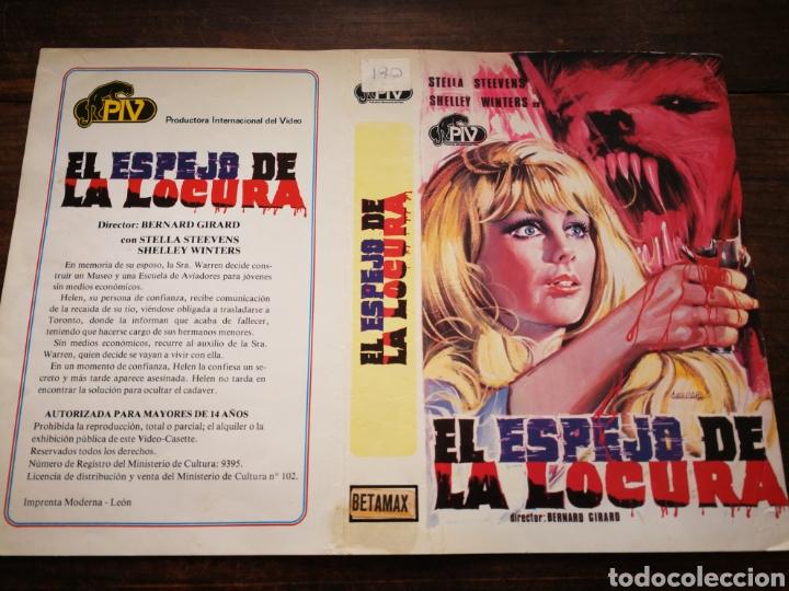 CARATULA ORIGINAL PELÍCULA EL ESPEJO DE LA LOCURA- BETAMAX. (Cine - Varios)