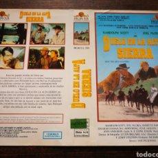 Cine: CARATULA ORIGINAL PELÍCULA DUELO EN LA ALTA SIERRA- VHS, BETA.. Lote 194285576