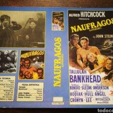 Cine: CARATULA PELÍCULA NÁUFRAGOS (A. HITCHCOCK)- VHS, BETA.. Lote 194285908