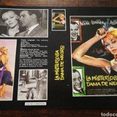 Cine: CARATULA PELÍCULA LA MISTERIOSA DAMA DE NEGRO- VHS, BETA.. Lote 194287138