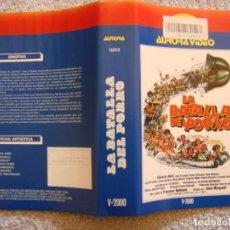 Cine: CARATULA ORIGINAL VHS - LA BATALLA DEL PORRO - AURORA VIDEO. Lote 194290721