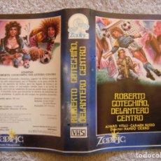 Cine: CARATULA ORIGINAL VHS - ROBERTO COTECHIÑO, DELANTERO CENTRO - ZODIAC. Lote 194291057