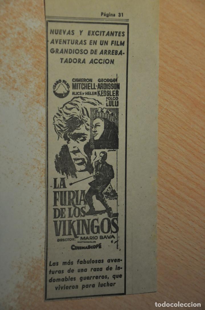 ANUNCIO PELICULA LA FURIA DE LOS VIKINGOS (Cine - Varios)