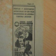 Cine: ANUNCIO PELICULA LA FURIA DE LOS VIKINGOS. Lote 194403617