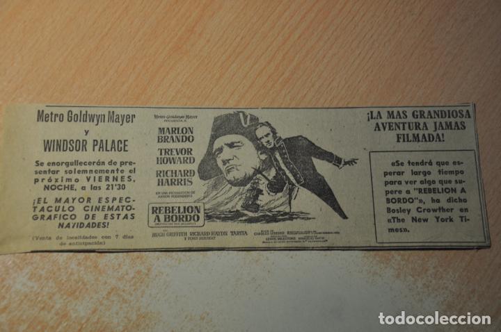 ANUNCIO PELICULA REBELION A BORDO (Cine - Varios)