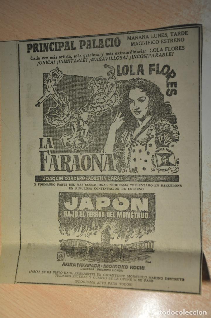 ANUNCIO PELICULA LA FARAONA (Cine - Varios)