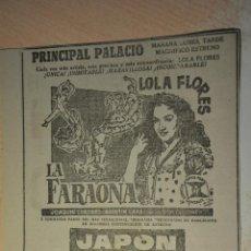 Cine: ANUNCIO PELICULA LA FARAONA. Lote 194403677
