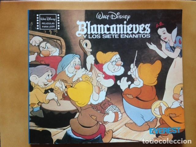 PELICULAS PARA LEER : BLANCANIEVES Y LOS SIETE ENANITOS - WALT DISNEY - EDITORIAL EVEREST 1980 (Cine - Varios)