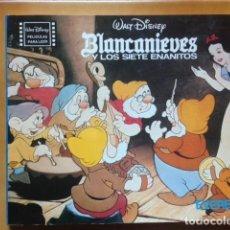 Cine: PELICULAS PARA LEER : BLANCANIEVES Y LOS SIETE ENANITOS - WALT DISNEY - EDITORIAL EVEREST 1980. Lote 194515826