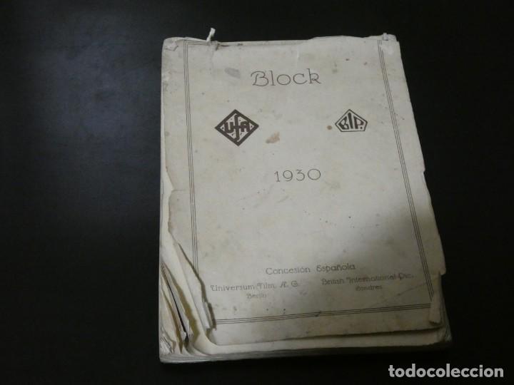 VER FOTOS TREMENDO BLOCK CON LOS ESTRENOS AÑO 1930 DE LA U.F.A Y B.I.P CONCESION ESPAÑOLA- HITCHCOCK (Cine - Varios)
