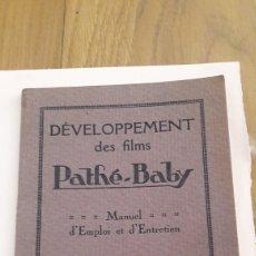 Cine: CINE-PATHE-BABY. MANUAL DE EMPLEO Y ENTRETENIMIENTO EN FRANCES. Lote 194995403