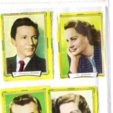 Cine: LOTE DE 4 CROMOS CINE-C.MITCHELL-ALIDA VALLI-ROBERT MITCHUM-JANE RUSEELL-. Lote 195072607