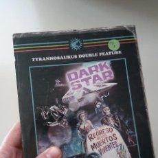 Cine: TYRANNISAURUS DOUBLE FEATURE: DARK STAR & EL REGRESO DE LOS MUERTOS VIVIENTES - LIBRO DE TONI BASCOY. Lote 195101682