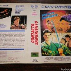 Cine: CARATULA ORIGINAL PELÍCULA CONTACTO SANGRIENTO- VHS.. Lote 195159572