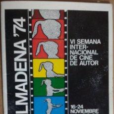 Cine: BENALMADENA 74, VI SEMANA INTERNACIONAL DE CINE DE AUTOR, PALACIO CONGRESOS TORREMOLINOS. Lote 195184363