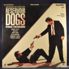 Cine: RESERVOIR DOGS (PERROS ENCERRADOS) - LASER DISC . Lote 195365405