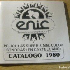 Cine: CATALOGO PRODUCTR ENIC PELICULAS SUPER 8 SONORAS 1980 BATALLA DE LOS PLANETAS CALIMERO MOLECULA BOXY. Lote 195786565