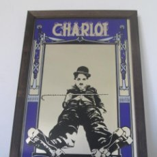 Cine: MAGEN DE CHARLOT, CHARLES CHAPLIN EN UN CUADRO ESPEJO. MIDE 32,5CM X 22,2CM X 1,2CM. Lote 197418753