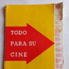 Cine: CATÁLOGO WASSMANN DE MATERIAL CINEMATOGRÁFICO. AÑO 1964. TODO PARA SU CINE.. Lote 202400778