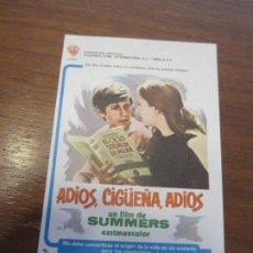Cinema: ADIOS CIGUEÑA ADIOS PROSPECTO DE CINE. Lote 203325193