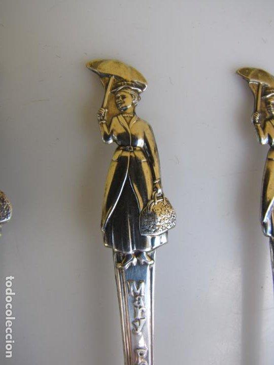 Cine: 3- Tres cucharas Silver Plated. 1964. Walt Disney Promoción Mary Poppins - Foto 3 - 204275382