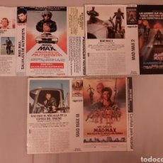 Cine: 3 CARÁTULA PELÍCULA VHS MAD MAX (SUPERTELE) AÑOS 90. Lote 205200646